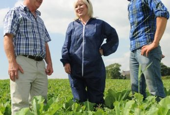 O'Neill visits organic farm at Downpatrick