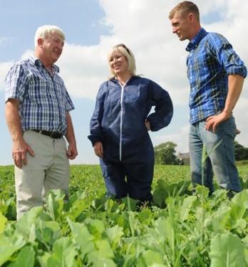 O'Neill visits organic farm at Downpatrick