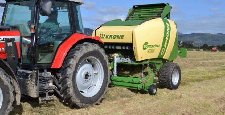 "Krone Comprima makes ""bigger, tighter"" bales"