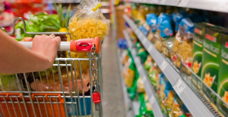 Food prices rising at their lowest level since March 2012