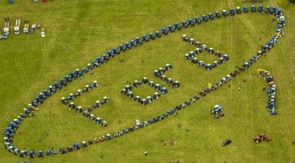 Ford tractors get in gear, charity harvest day
