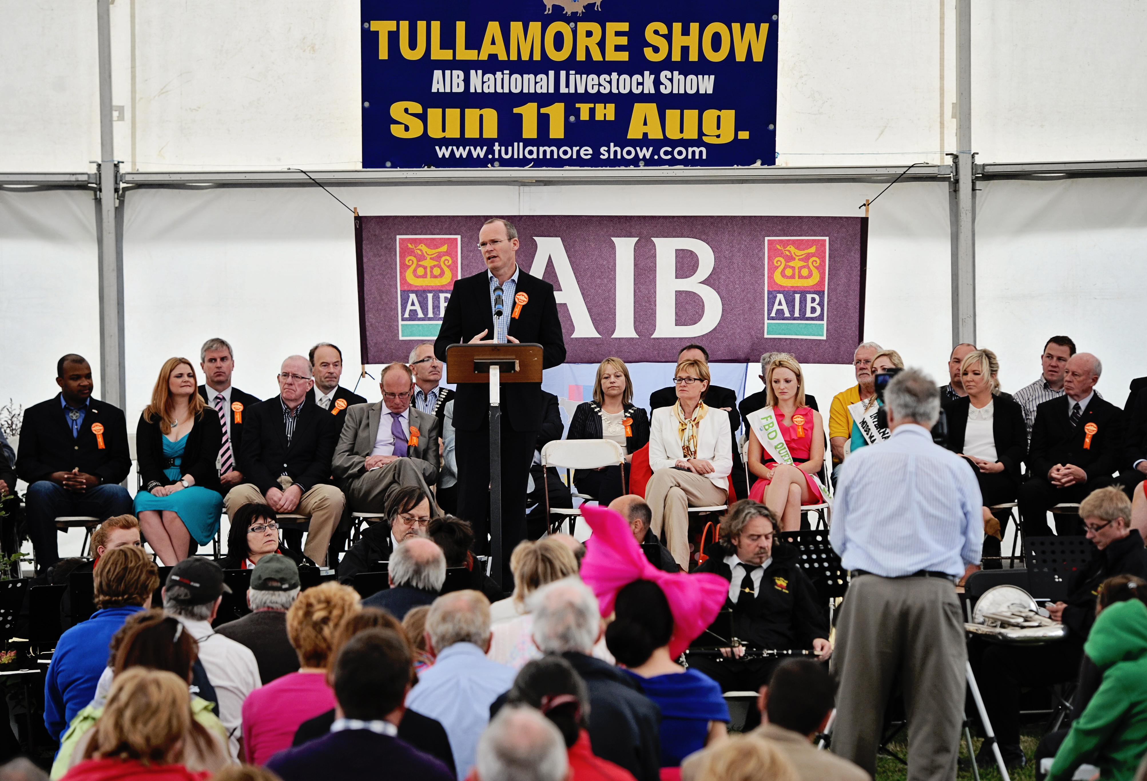 Simon Coveney Tullamore Show