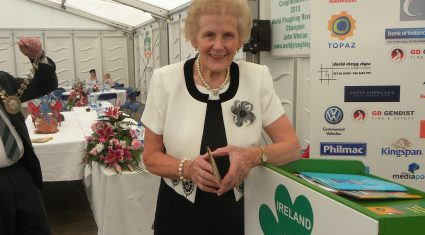 Minister turns the sod on Ploughing 2013