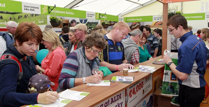 Aldi brown bread bake off at Ploughing