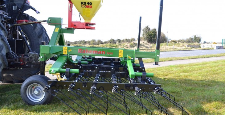 New Rakeman grass harrow