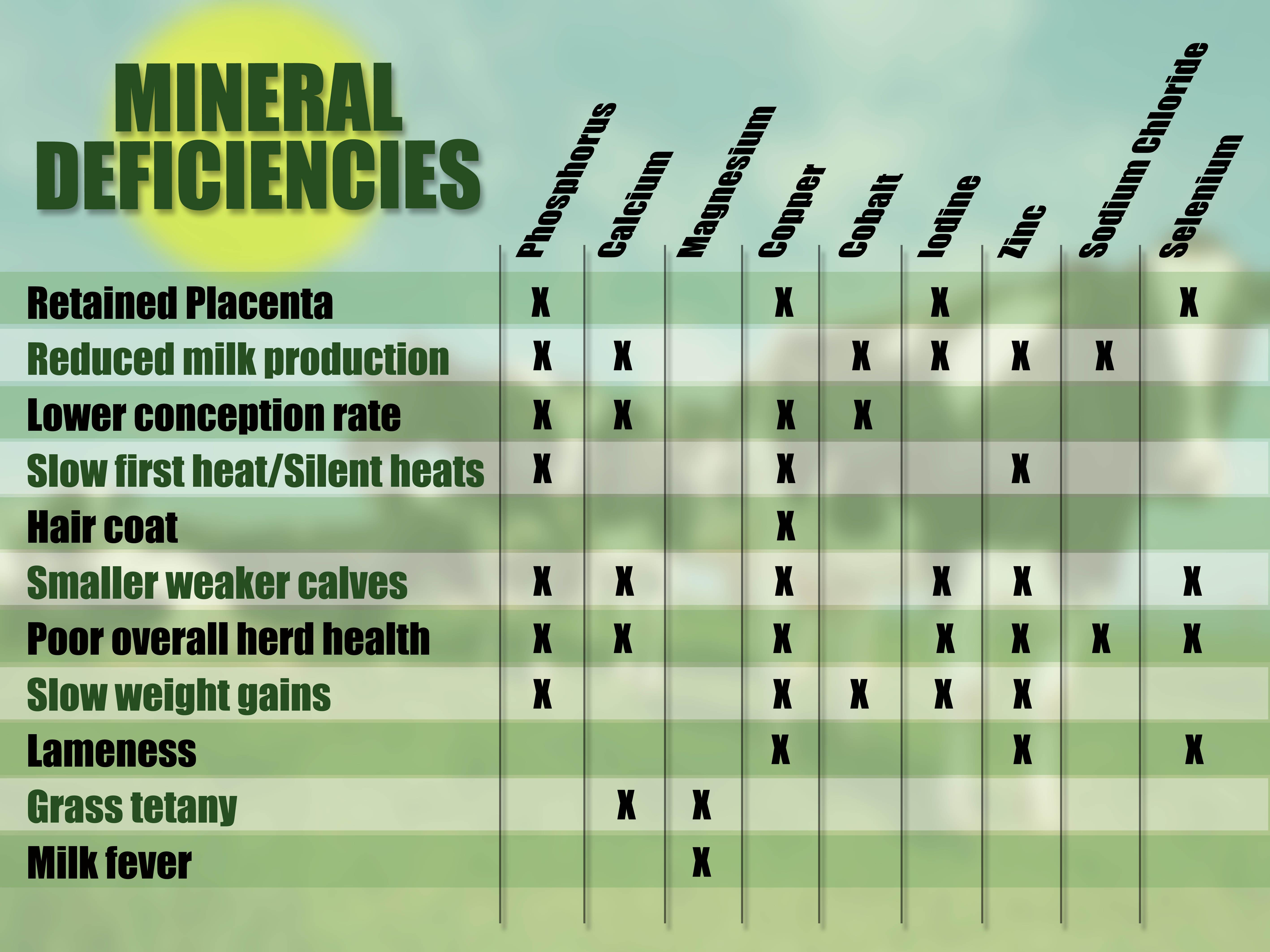 Mineral deficiencies