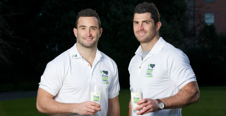 Rugby stars reach for the milk in national dairy campaign