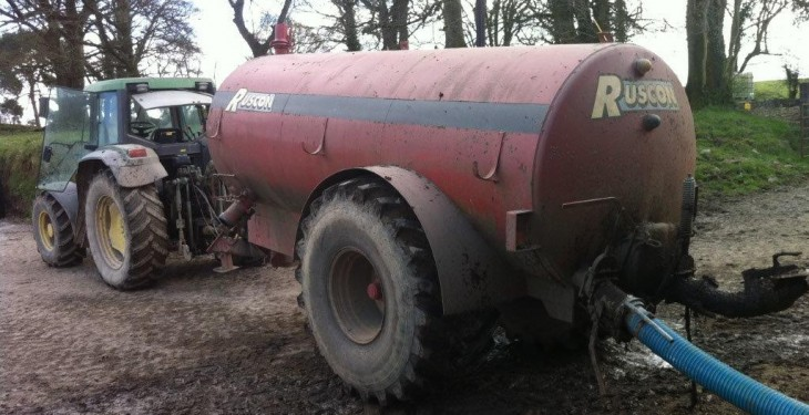 Farmer fined for polluting waterway with slurry