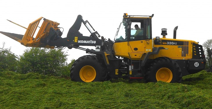McHale sees silage use for Komatsu Wheel Loader