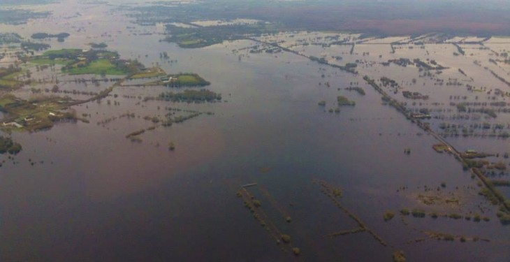 Significant amount of farmland flooded, as rivers are closely monitored