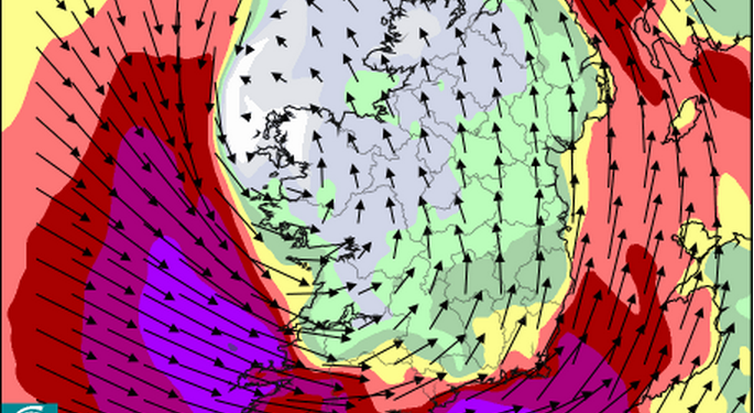 Cork and Kerry on status red weather alert, as another storm expected on Friday