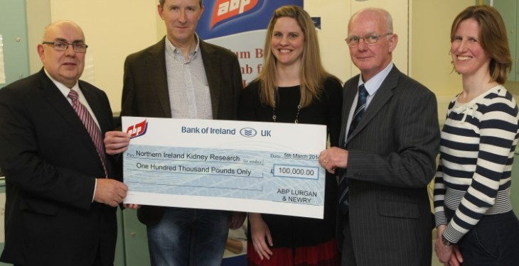 ABP Presents £100,000 to Belfast City Hospital for Kidney Research