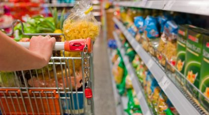 People grocery shop less often, but buy more