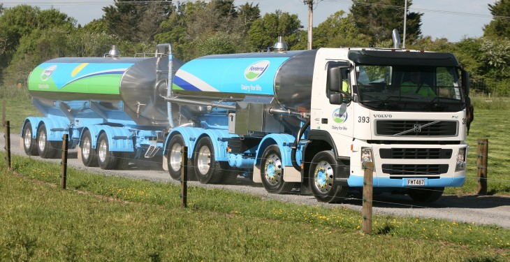 Kiwi tankers collecting milk every 9 seconds