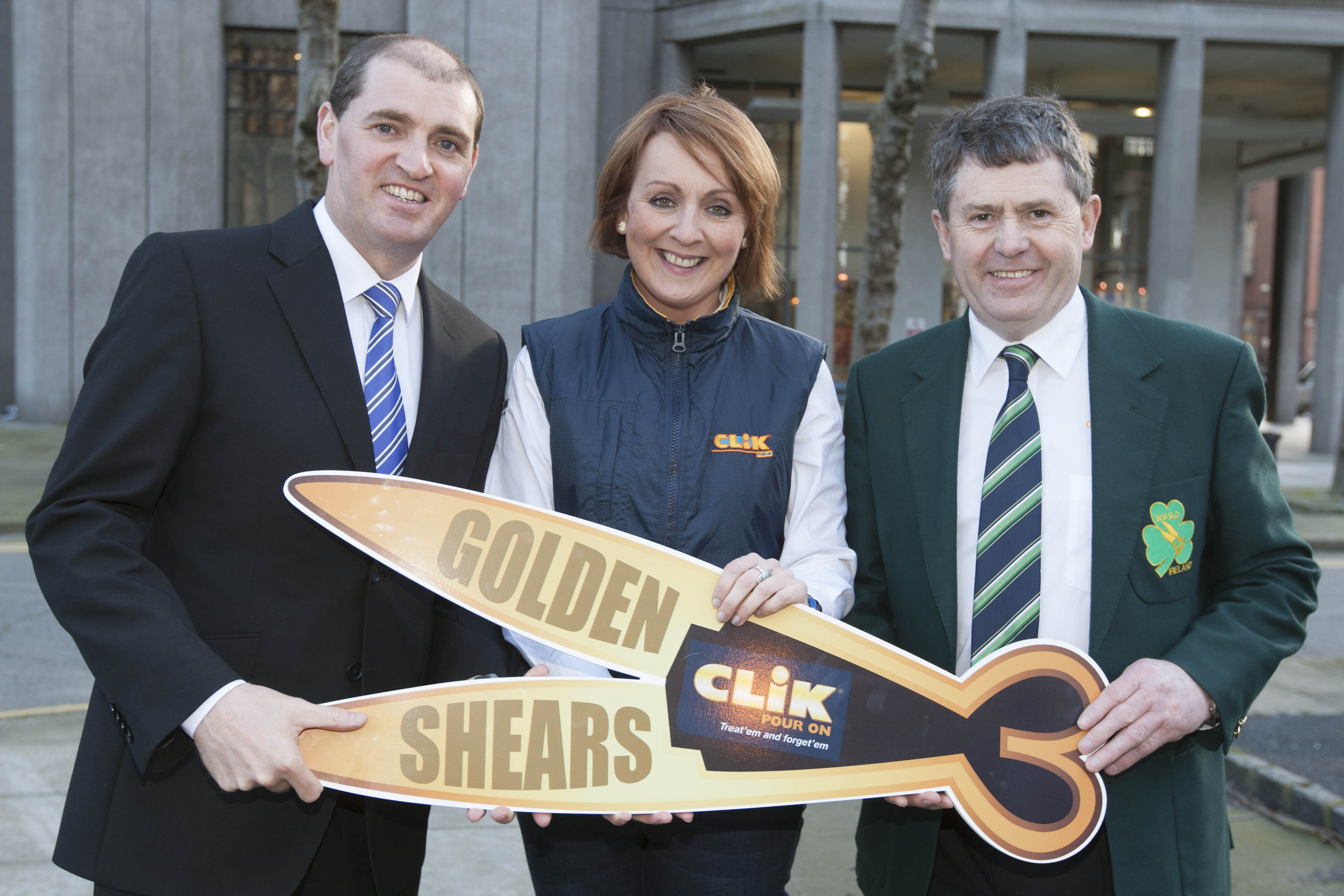 George Graham pictured on the right at the launch of last year's Golden Shears