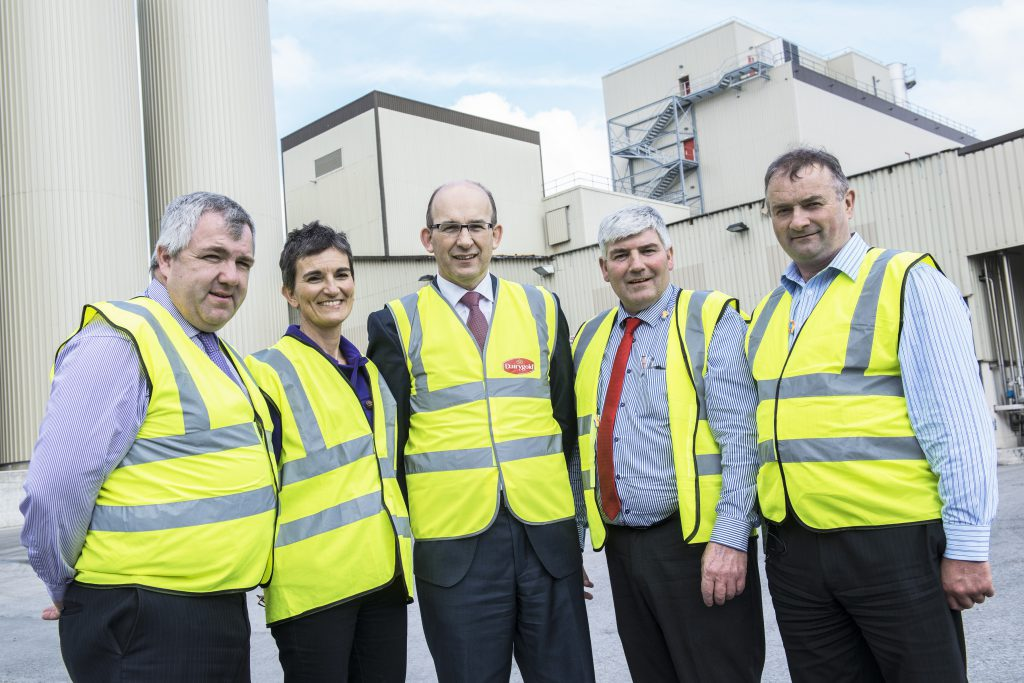 James Lynch, Chairman, Dairygold, Catherine Lascurettes, Secretary, IFA National Dairy Committee, Jim Woulfe, Chief Executive, Dairygold, Martin Gilvarry Vice Chairman, IFA National Dairy Committee and Bertie O'Leary, Chairman, Dairygold.
