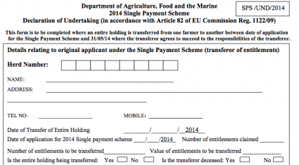 Single Farm Payment forms 'in the post'