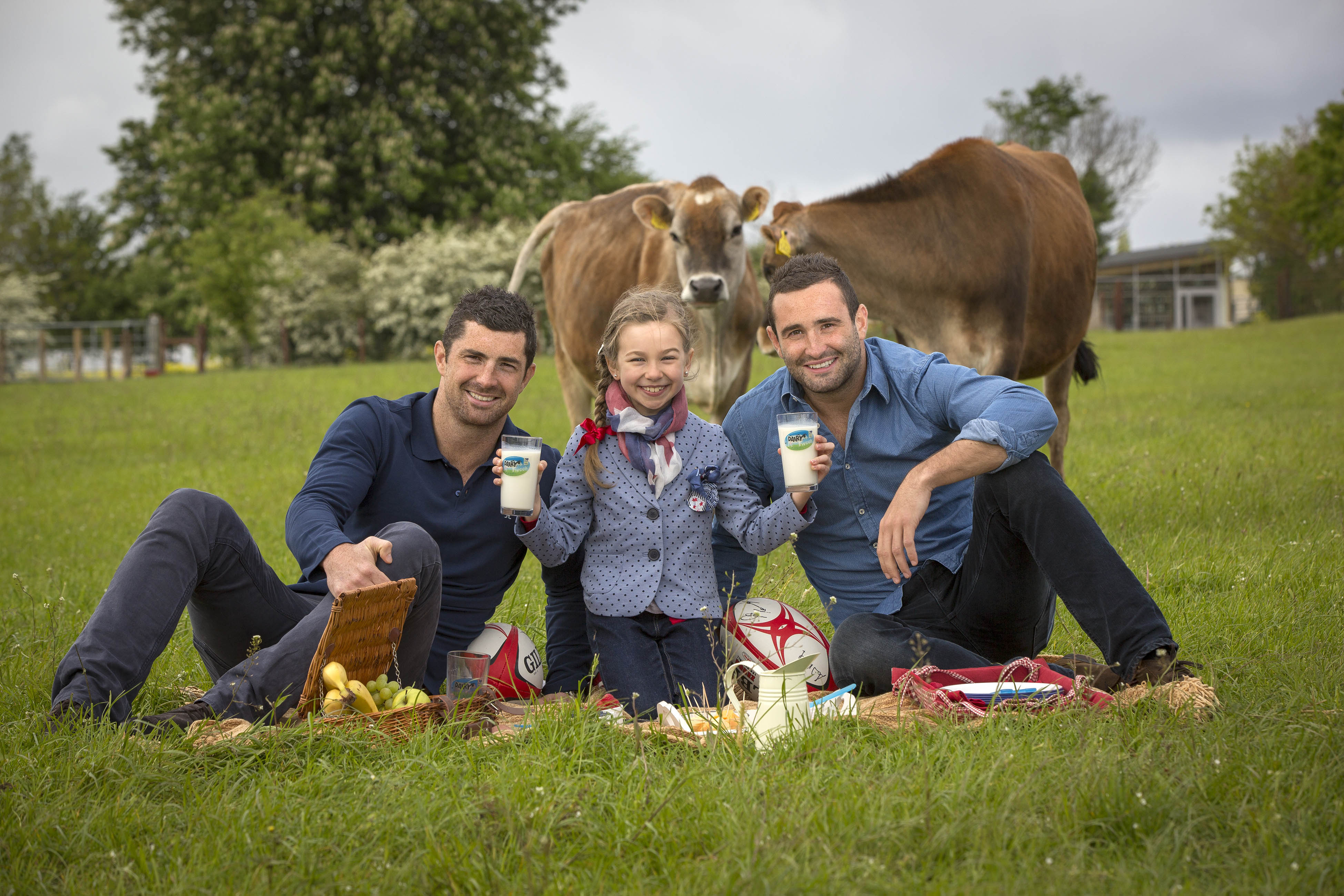 Rob Kearney and Charlotte Patten and Dave Kearney at the launch.