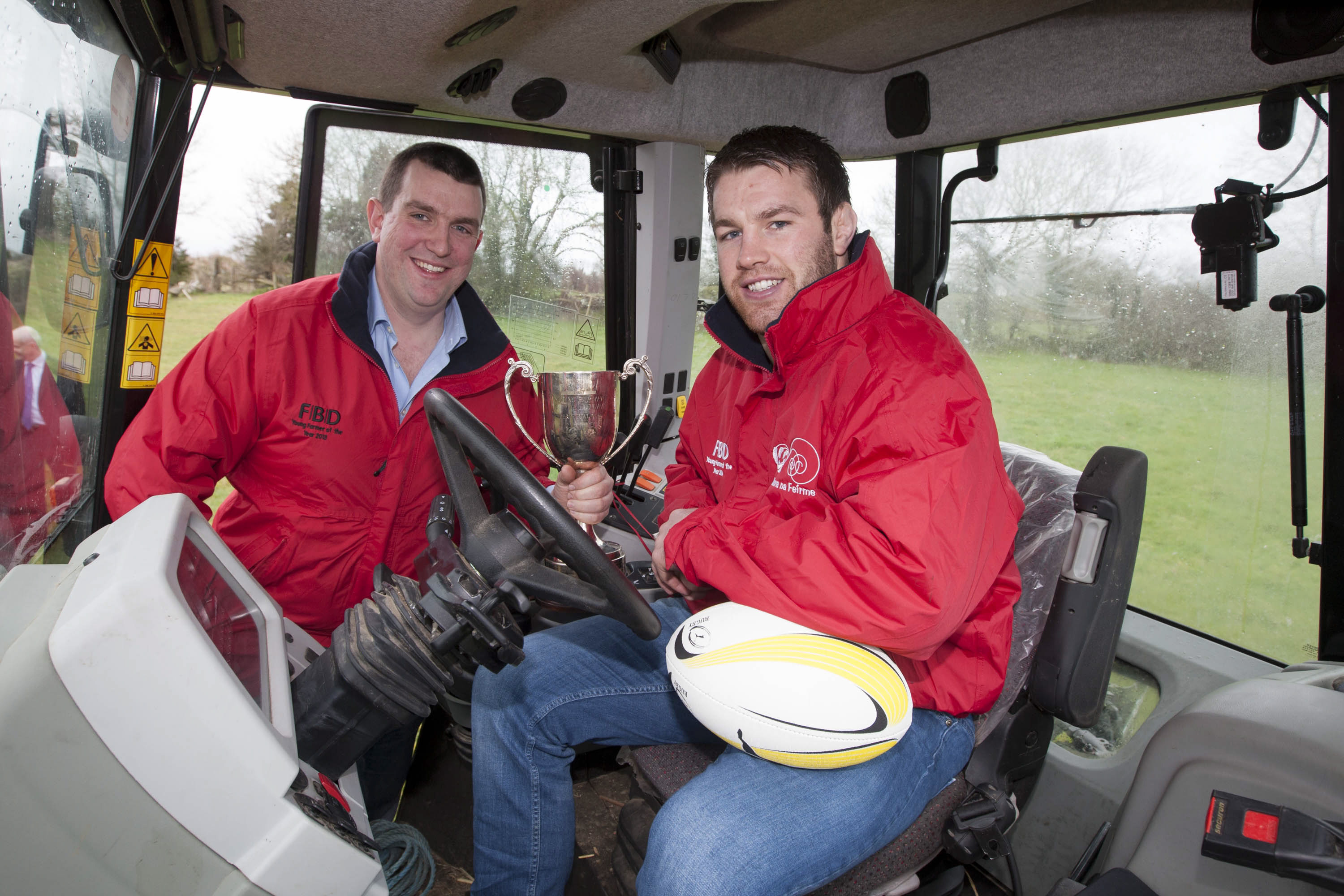 John Buckley, FBD Young Farmer of the Year 2013 with Sean O'Brien, launching the 16th FBD Young Farmer of the Year.