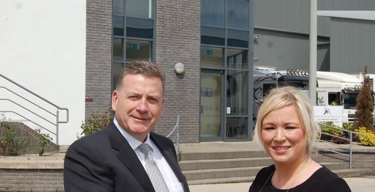 O'Neill visits Ardboe Coldstore
