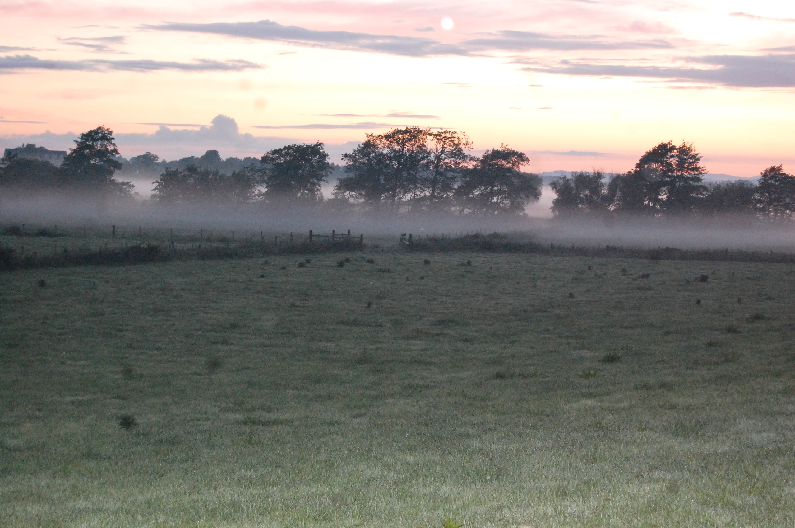 Mist rolling in from the Upper Bann in North Co Armagh last night