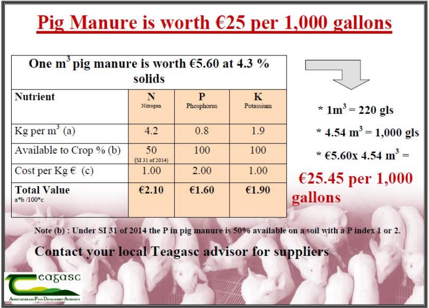 pig slurry value