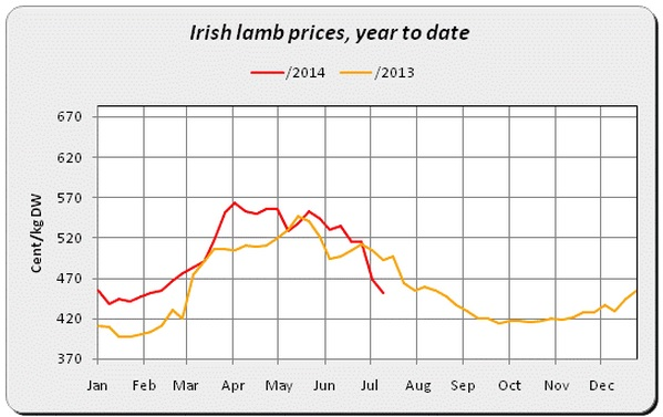 Irish Lamb Prices