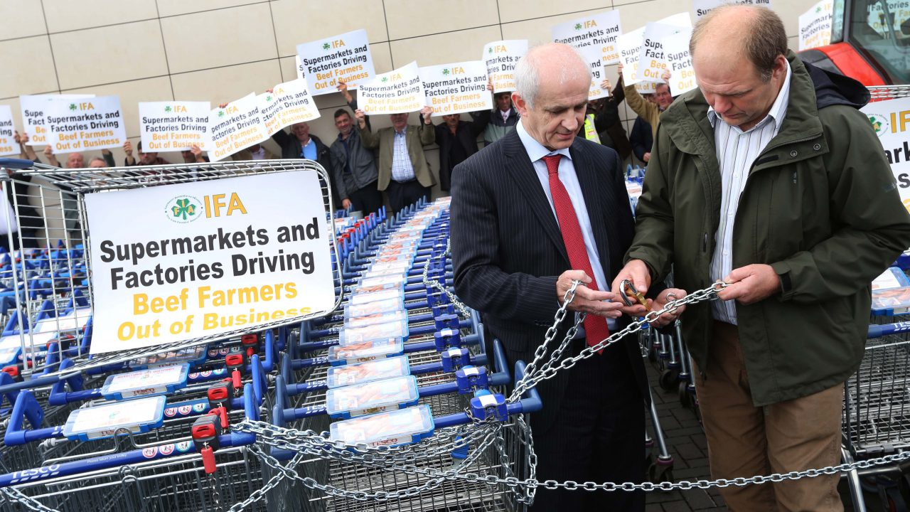 Lidl in the firing line at latest IFA beef protest