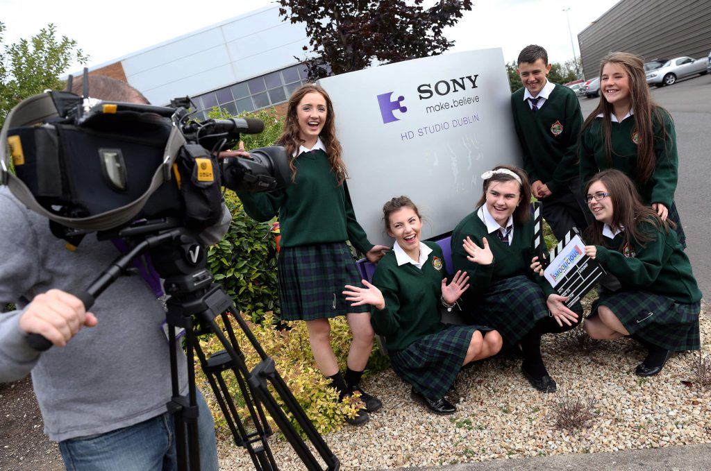 Pictured at TV3/3e are the TY students from Ard Scoil na Tríonóide were Emma Owens, Anna Cully, Adam Ryan, Ellen Purcell, Clodagh Walsh and Eadaoin Burgess. Picture Patrick Bolger.