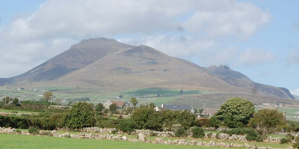The Mourne Mountains, photographed from Annalong in Co Down earlier this week