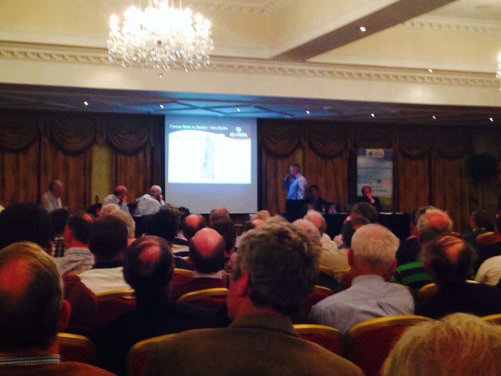 Dunbia's Padraig Browne addressing the crowd in Navan.