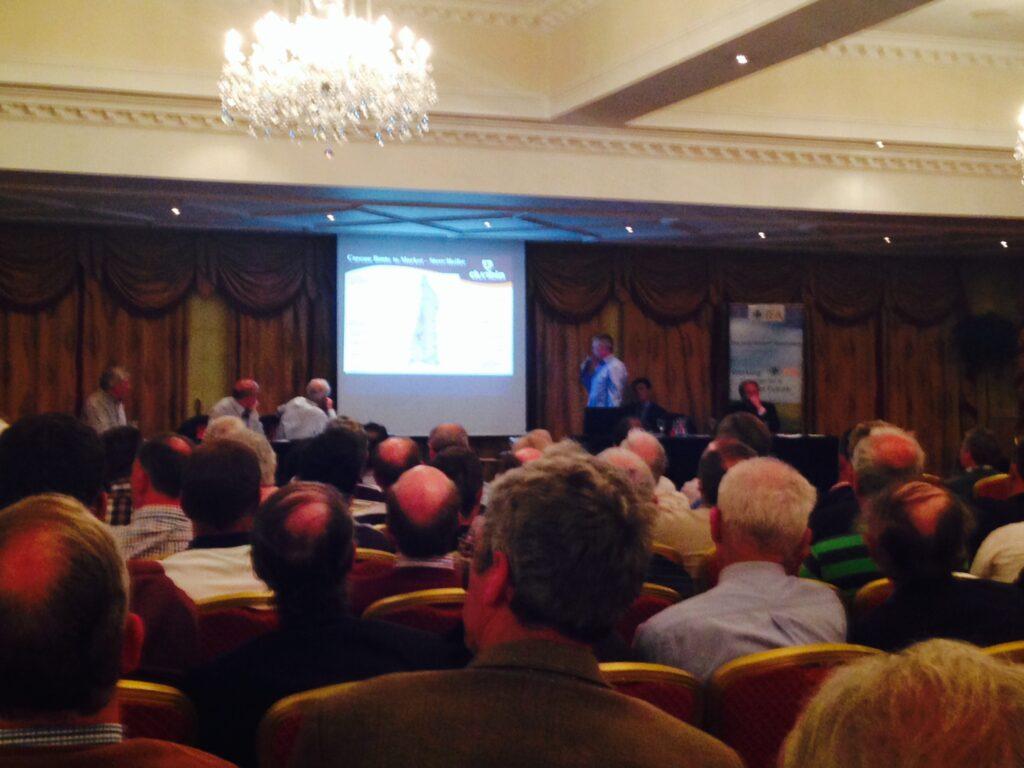 Dunbia's Padraig Browne addressing the crowd in Navan.