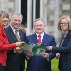 Pictured are Dr. Rachel Creamer, Project Manager, Teagasc; Prof. Gerry Boyle, Director of Teagasc; Brendan Howlin, Minister for Public Expenditure and Reform and Laura Burke, Director General, EPA at the launch.