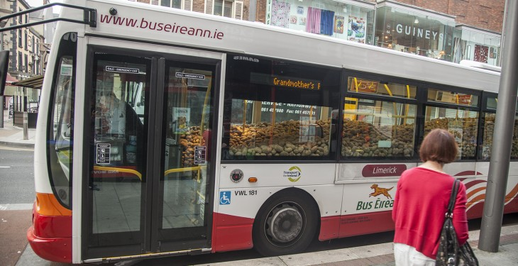 Limerick bus full of spuds belongs to giant Granny!