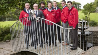 Kieran O'Dowd with the finalists of the Macra Young Farmer of the Year.