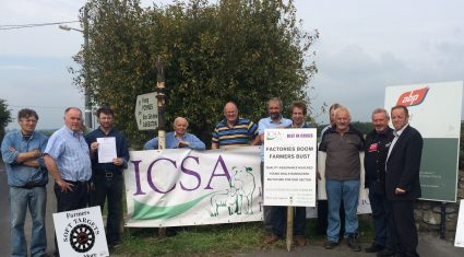 ICSA protests outside ABP over beef prices
