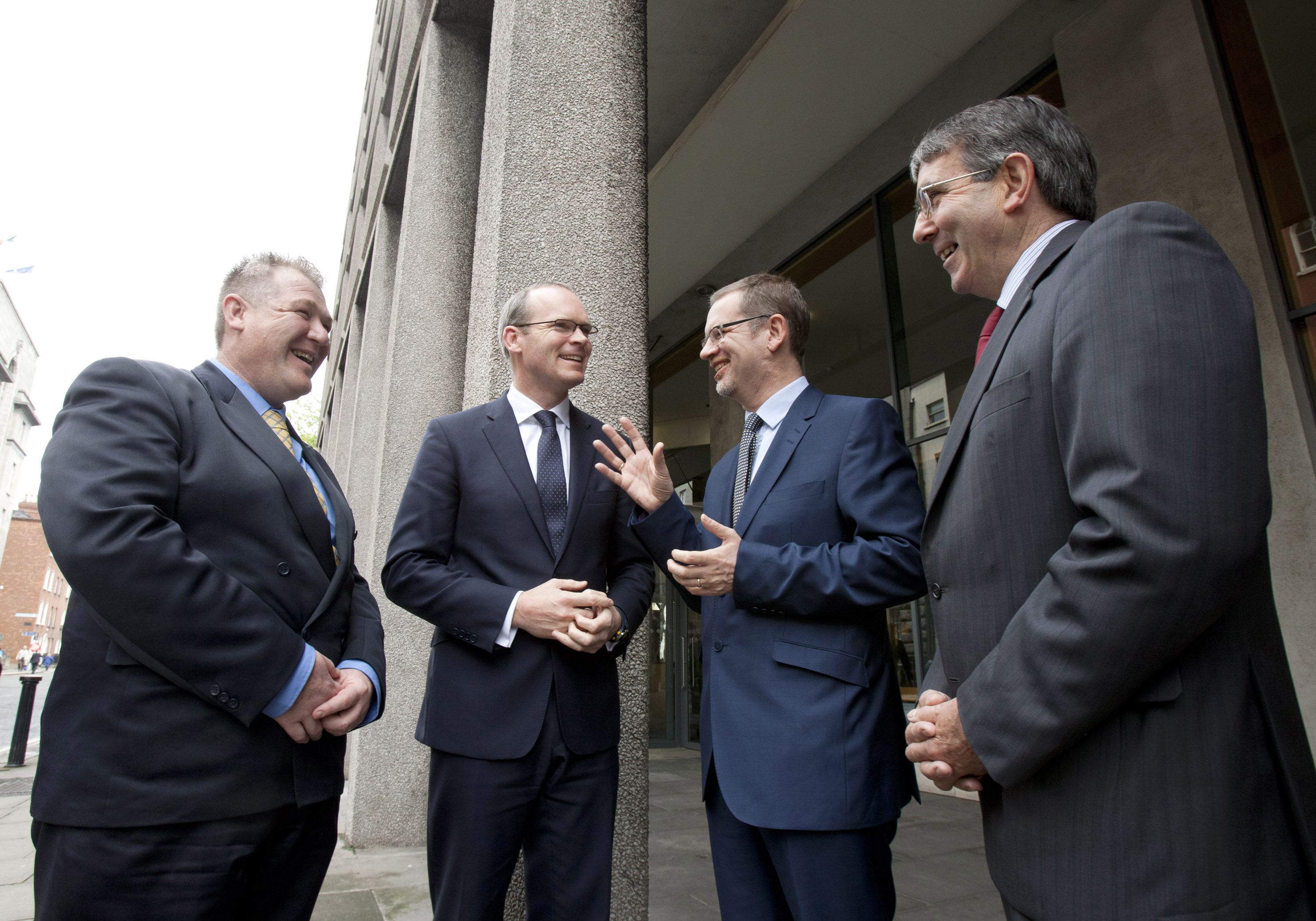 Pictured launching the initiative are from left Billy Goodburn, ICOS Skillnet Manager;  Agriculture Minister, Simon Coveney T.D., Alan Nuzum, CEO of Skillnets and Seamus O'Donohoe, CEO of the Irish Co-operative Organisation Society (ICOS).