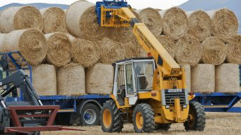 Here's the official rules for transporting bales on the road