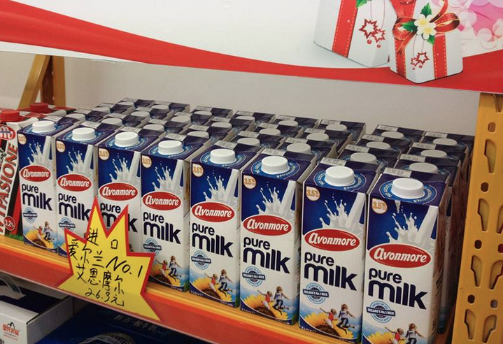Chinese imports of UHT milk continue to grow