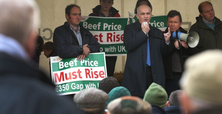 'Protests impact on supply of fresh beef to important customers'