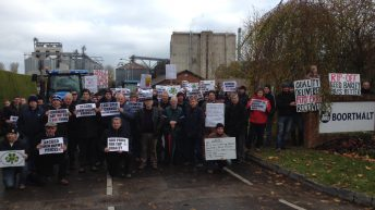 Malting barley growers protest at poor price and 'IFA inaction'