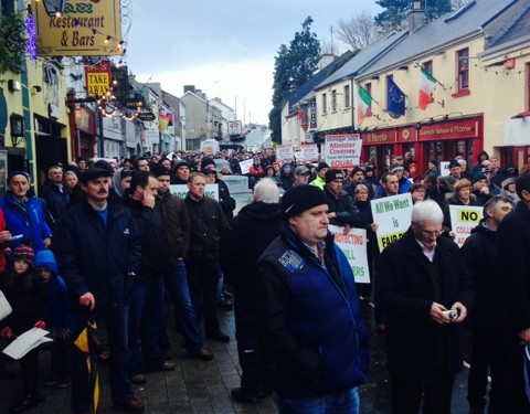 Thousands of farmers march on Castlebar over 'unfair' GLAS