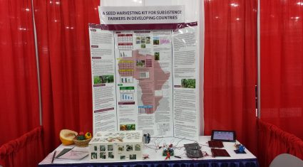 Young Scientist project on seed harvesting for farmers in developing countries