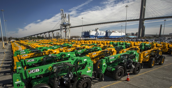 JCB receives largest ever shipment of machines to the US