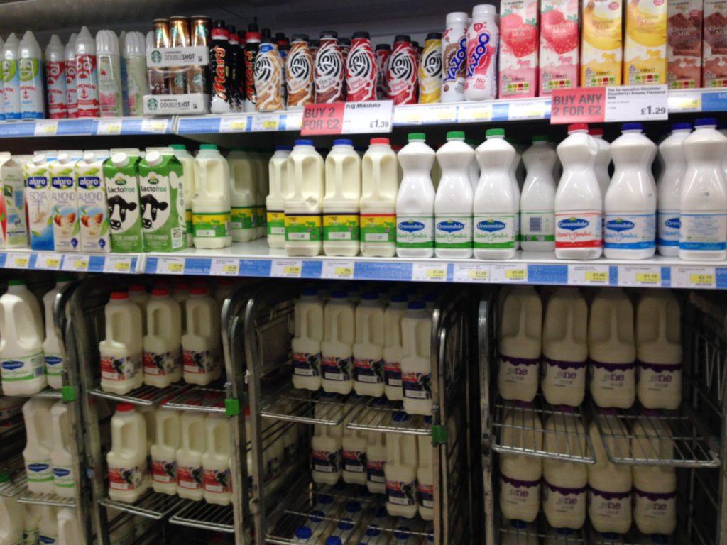 food pricing on milk cartons