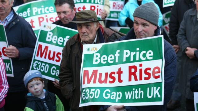 €350 UK/Irish beef price gap returns, so where are the protests?