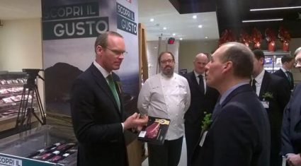 Coveney promotes Irish beef in Italy