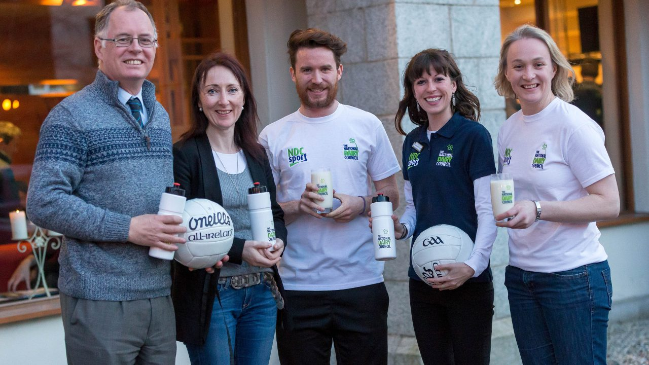 What food are young GAA players encouraged to get five servings of a day?