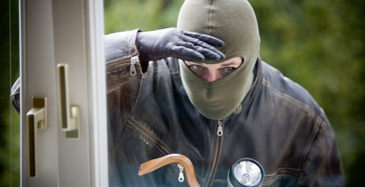 'Burglar had my arm held and I was afraid for my life'