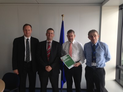 Deputy Eamon O Cuiv with members of the Agriculture and Rural Development Cabinet Mr Tom Tynan and Mr Carl-Christian Buhr.